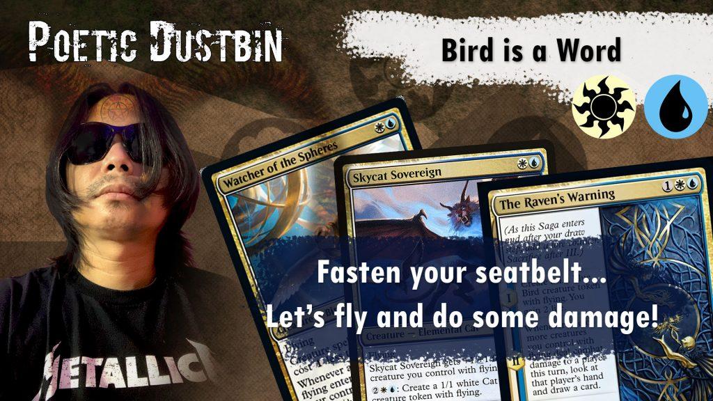 MTG Arena – Kaldheim Azorious Standard Bird Deck with Raven's Warning and Dream Trawler
